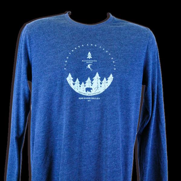 Backcountry Skiing Long Sleeve T-Shirt