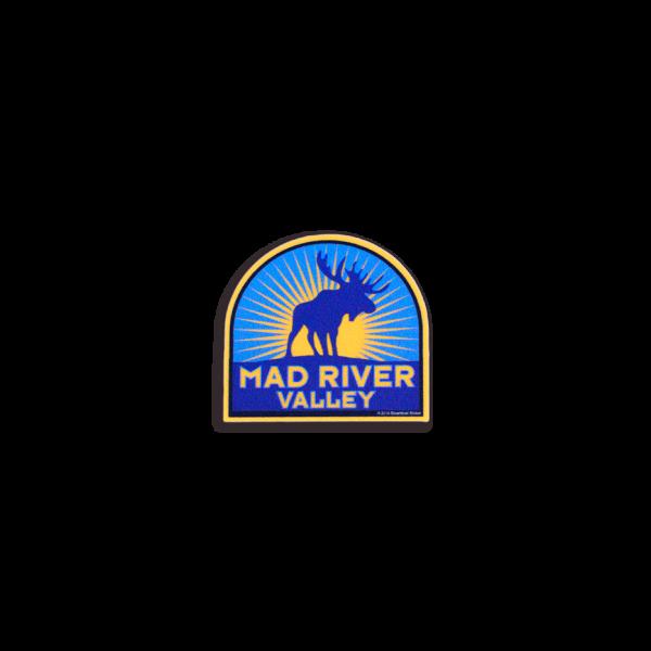 Mad River Valley Moose Helmet Sticker 2x1
