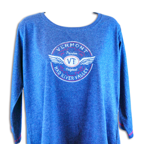 Vermont Mad River Valley Girl 3:4 T-Shirt