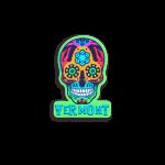 """Vermont Skull Sticker 2""""x1"""""""