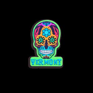 Vermont Skull Helmet Sticker