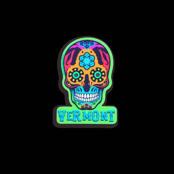 Vermont Skull Helmet Sticker 2x1